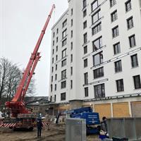 Hoogbouwplein plaatsing balkons Fase 1